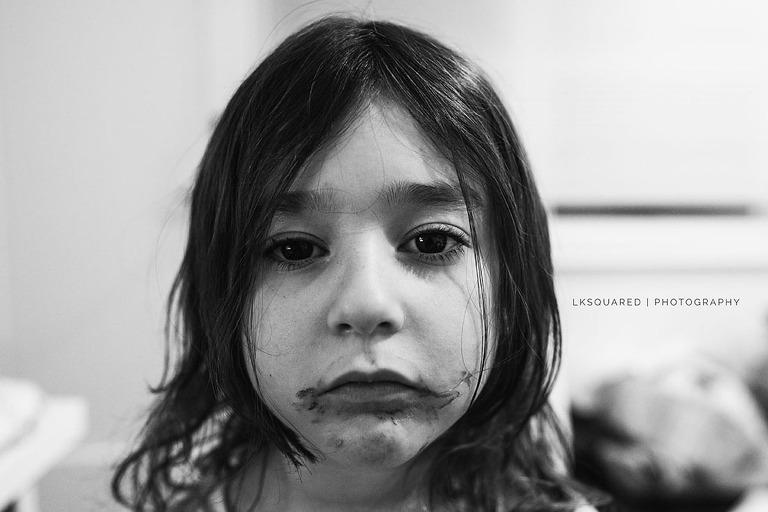 messy face portrait
