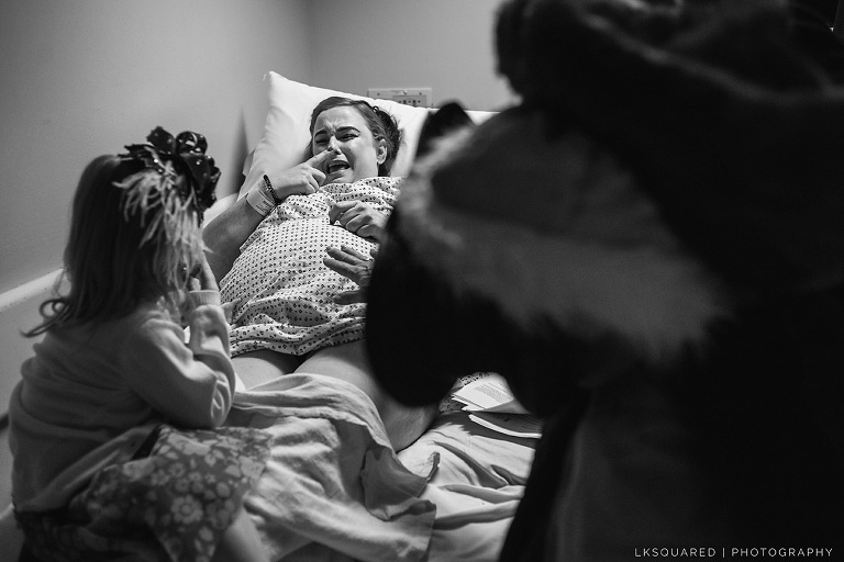 long island birth photographer, birth of arielle serenity rose, c-section at north shore university hospital, family in the waiting room