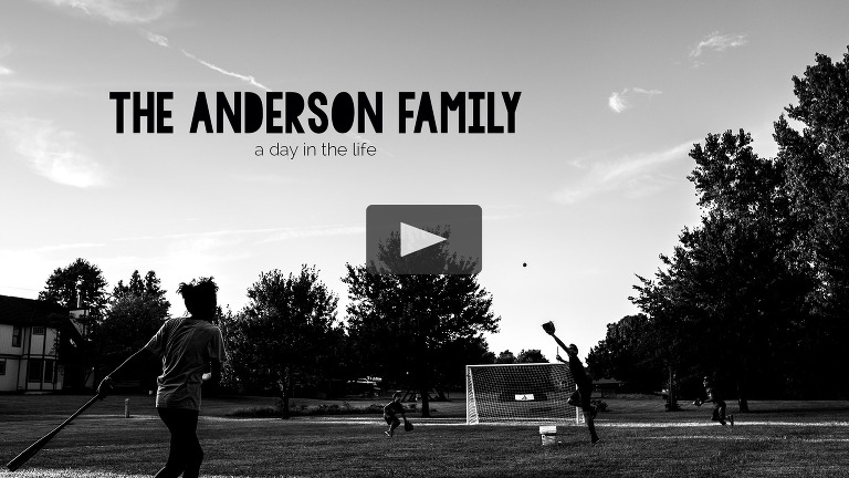 slideshow cover for anderson family day in the life